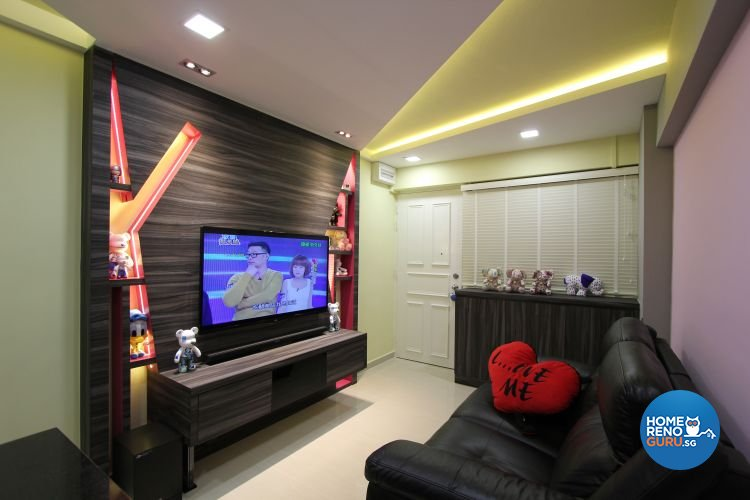 Contemporary, Eclectic, Modern Design - Living Room - HDB 4 Room - Design by Beaux Monde Pte Ltd