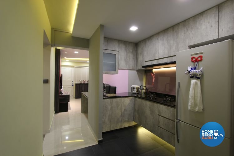 Contemporary, Eclectic, Modern Design - Kitchen - HDB 4 Room - Design by Beaux Monde Pte Ltd