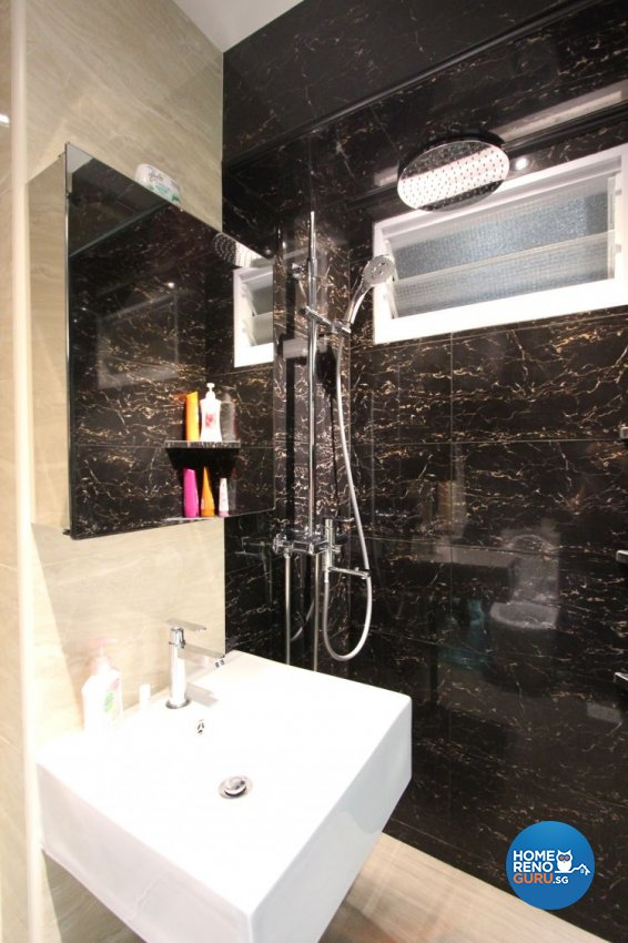 Contemporary, Eclectic, Modern Design - Bathroom - HDB 4 Room - Design by Beaux Monde Pte Ltd