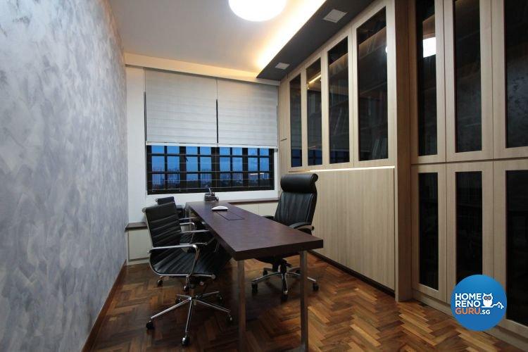 Classical, Contemporary, Modern Design - Study Room - HDB 5 Room - Design by Beaux Monde Pte Ltd
