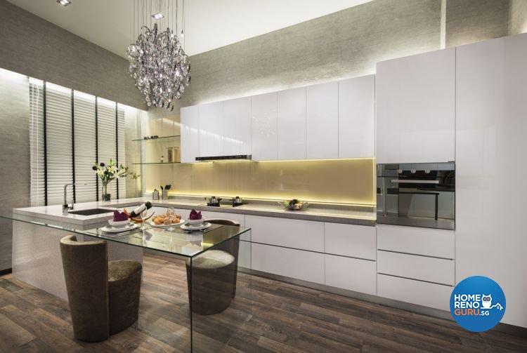 Contemporary, Modern Design - Kitchen - Landed House - Design by Beaux Monde Pte Ltd