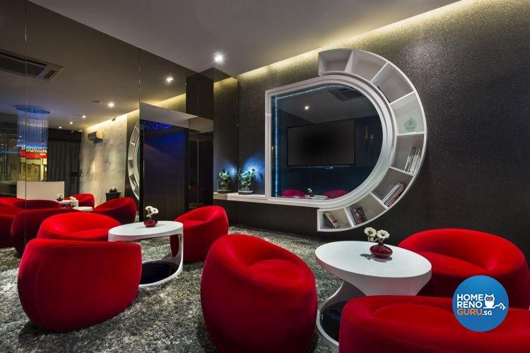 Contemporary, Modern Design - Entertainment Room - Landed House - Design by Beaux Monde Pte Ltd