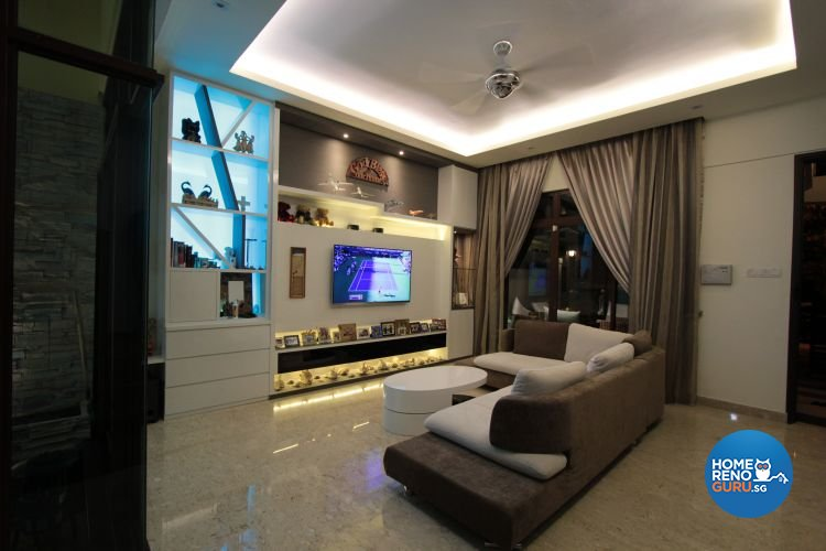Contemporary, Modern Design - Living Room - Landed House - Design by Beaux Monde Pte Ltd