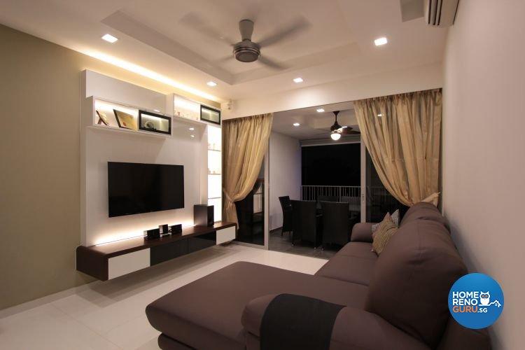 Contemporary, Minimalist, Modern Design - Living Room - Condominium - Design by Beaux Monde Pte Ltd