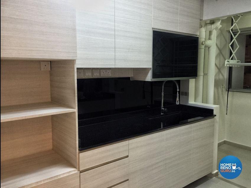 Contemporary, Minimalist, Modern Design - Kitchen - HDB 4 Room - Design by Benz Design Interior
