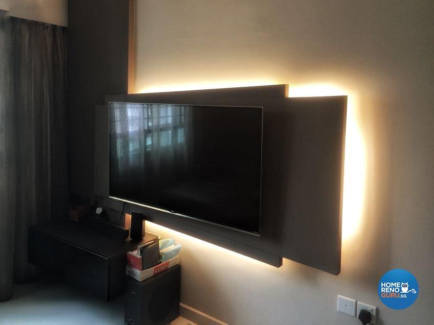 Contemporary, Minimalist, Modern Design - Living Room - HDB 4 Room - Design by Benz Design Interior