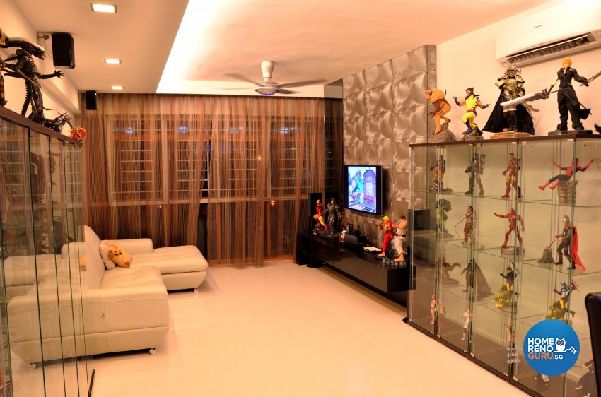 Minimalist, Modern Design - Living Room - HDB 5 Room - Design by Benz Design Interior