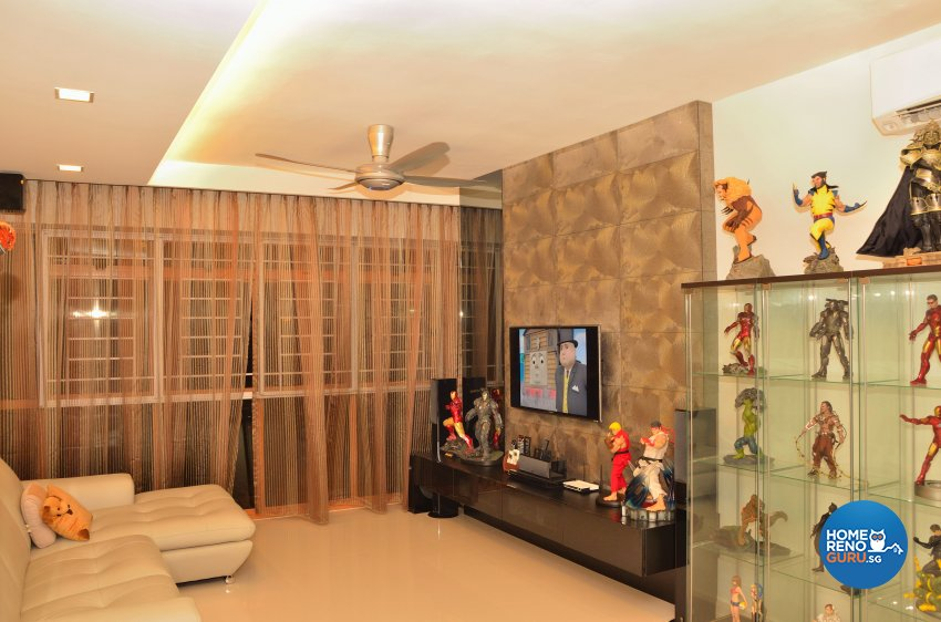 Minimalist, Modern Design - Living Room - HDB 5 Room - Design by Benz Design Interior
