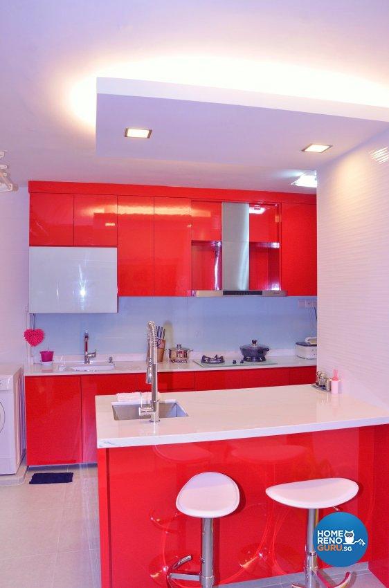 Minimalist, Modern Design - Kitchen - HDB 5 Room - Design by Benz Design Interior
