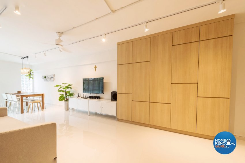 Contemporary, Minimalist, Scandinavian Design - Living Room - HDB Executive Apartment - Design by Benz Design Interior