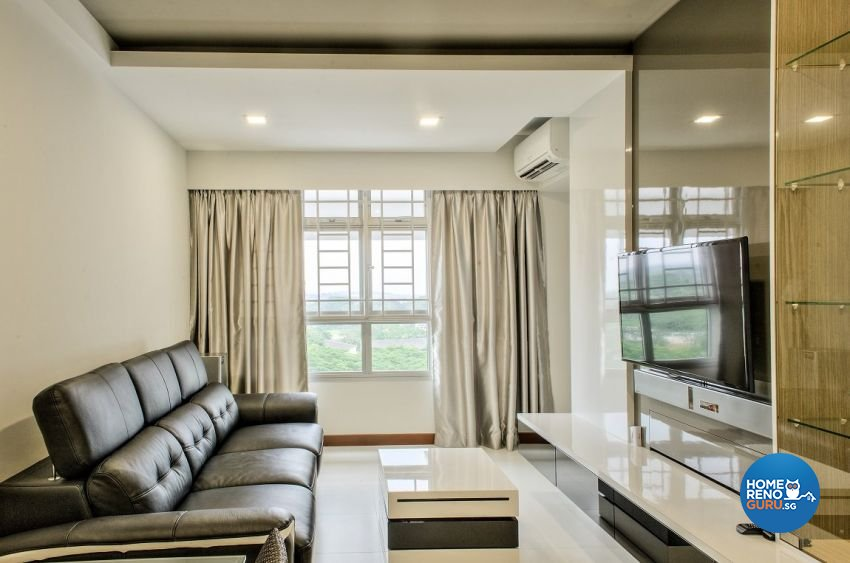 Contemporary Design - Living Room - HDB 3 Room - Design by Blackjack Royal Studio Pte Ltd