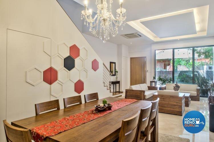 Modern, Tropical Design - Dining Room - Landed House - Design by Blackjack Royal Studio Pte Ltd