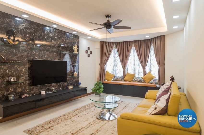 Modern Design - Living Room - Condominium - Design by Blackjack Royal Studio Pte Ltd