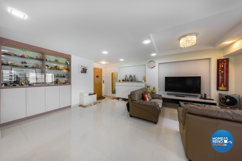 Modern Design - Living Room - HDB 5 Room - Design by Blackjack Royal Studio Pte Ltd
