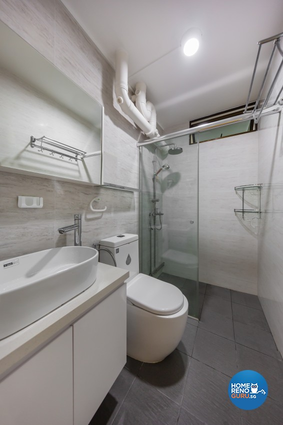 Modern Design - Bathroom - HDB 5 Room - Design by Blackjack Royal Studio Pte Ltd