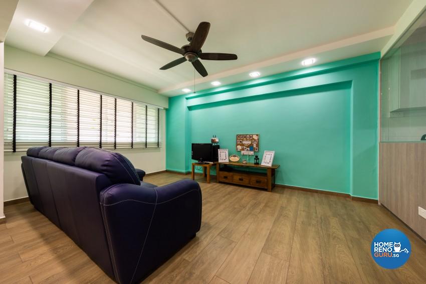 Modern, Scandinavian Design - Living Room - HDB 4 Room - Design by Blackjack Royal Studio Pte Ltd