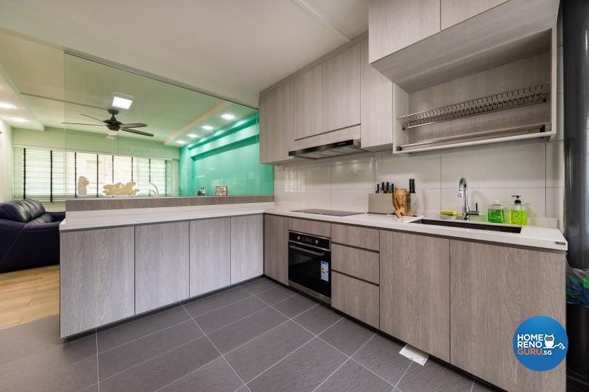 Modern, Scandinavian Design - Kitchen - HDB 4 Room - Design by Blackjack Royal Studio Pte Ltd