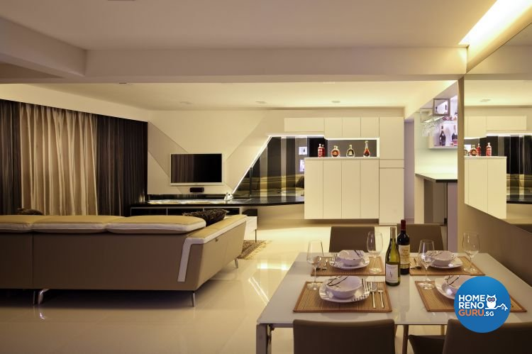 Contemporary, Modern Design - Living Room - HDB 5 Room - Design by Boon Siew D'sign Pte Ltd