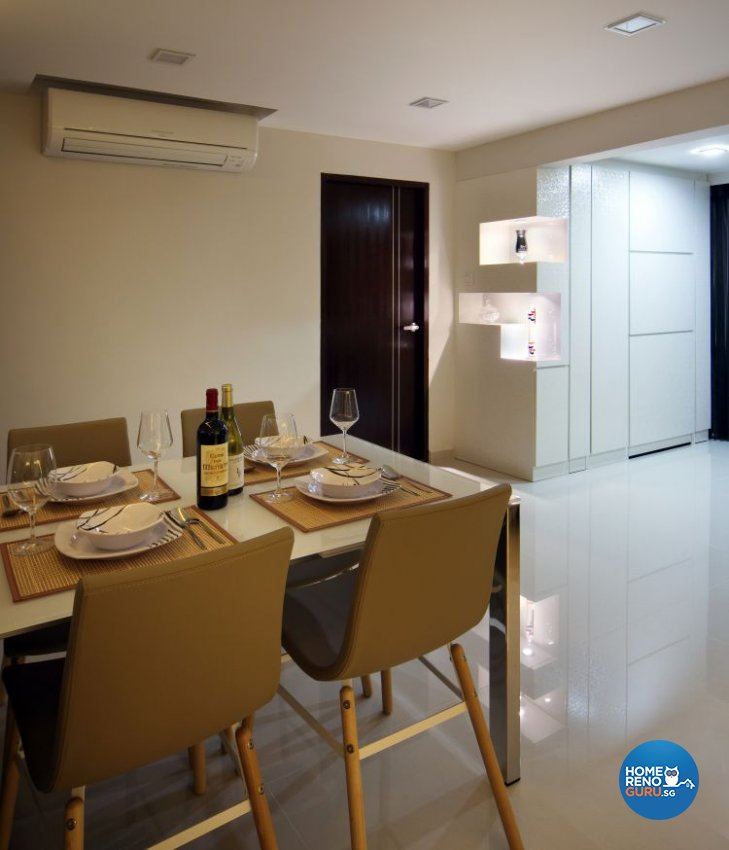 Contemporary, Modern Design - Dining Room - HDB 5 Room - Design by Boon Siew D'sign Pte Ltd