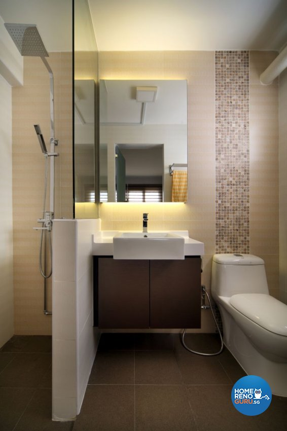 Contemporary, Modern Design - Bathroom - HDB 5 Room - Design by Boon Siew D'sign Pte Ltd