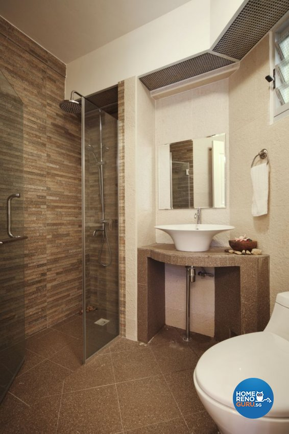 Country, Modern, Resort, Tropical Design - Bathroom - HDB 4 Room - Design by Boon Siew D'sign Pte Ltd