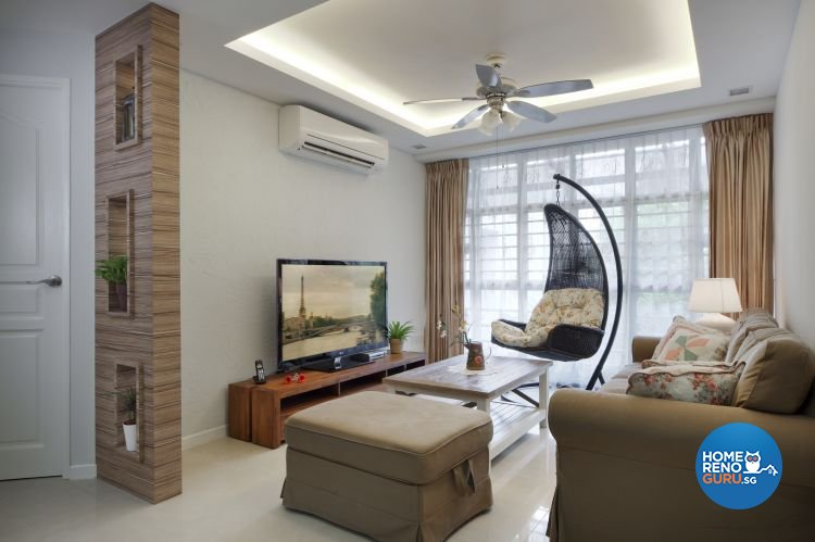 Country, Modern, Resort, Tropical Design - Living Room - HDB 4 Room - Design by Boon Siew D'sign Pte Ltd