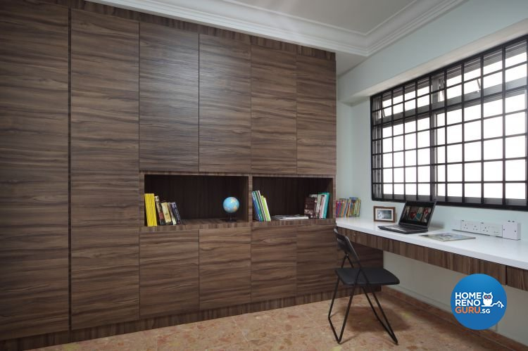 Country, Modern, Resort, Tropical Design - Study Room - HDB 5 Room - Design by Boon Siew D'sign Pte Ltd