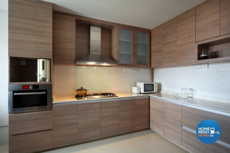 Country, Modern, Resort, Tropical Design - Kitchen - HDB 5 Room - Design by Boon Siew D'sign Pte Ltd