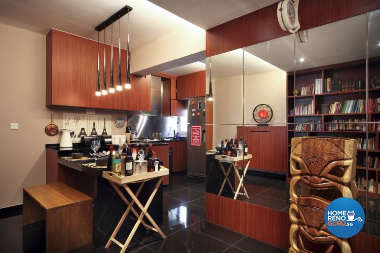 Country, Modern, Tropical Design - Kitchen - HDB 4 Room - Design by Boon Siew D'sign Pte Ltd