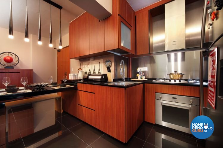 Contemporary, Modern Design - Kitchen - HDB 4 Room - Design by Boon Siew D'sign Pte Ltd