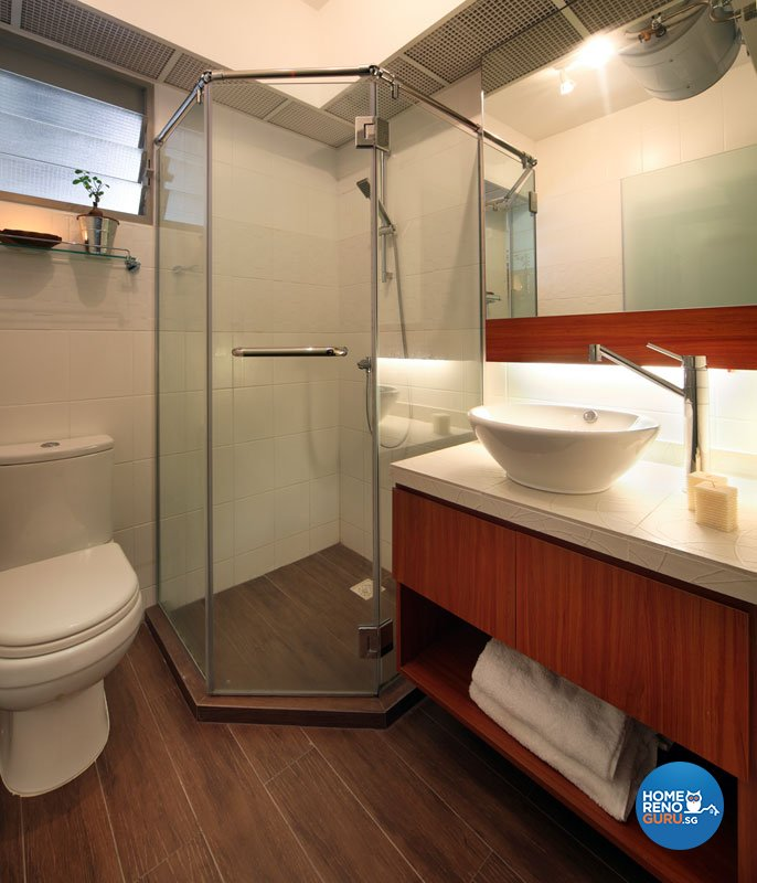 Contemporary, Modern Design - Bathroom - HDB 4 Room - Design by Boon Siew D'sign Pte Ltd