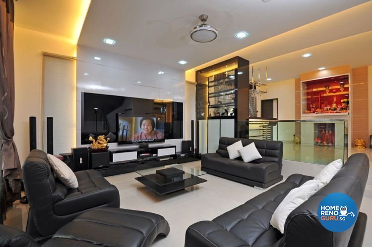 Contemporary, Modern Design - Living Room - Landed House - Design by Boon Siew D'sign Pte Ltd