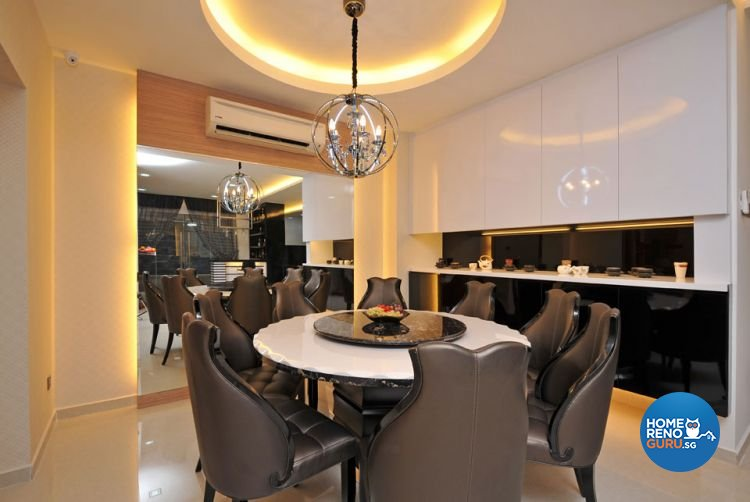 Contemporary, Modern Design - Dining Room - Landed House - Design by Boon Siew D'sign Pte Ltd