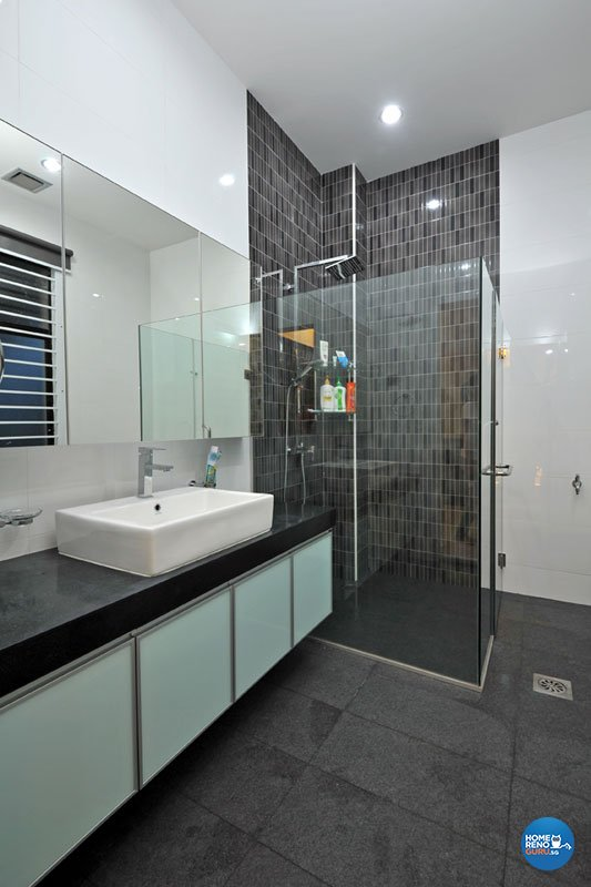 Contemporary, Modern Design - Bathroom - Landed House - Design by Boon Siew D'sign Pte Ltd