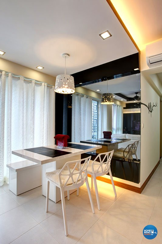 Contemporary, Modern Design - Dining Room - HDB 4 Room - Design by Boxplan Design Connection Pte Ltd