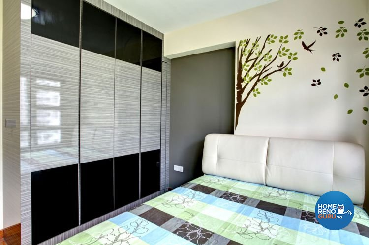 Contemporary, Modern Design - Bedroom - HDB 4 Room - Design by Boxplan Design Connection Pte Ltd