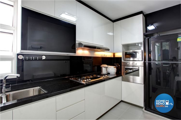 Contemporary, Modern Design - Kitchen - HDB 4 Room - Design by Boxplan Design Connection Pte Ltd