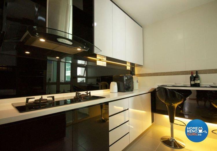 Contemporary, Modern Design - Kitchen - HDB 5 Room - Design by Boxplan Design Connection Pte Ltd