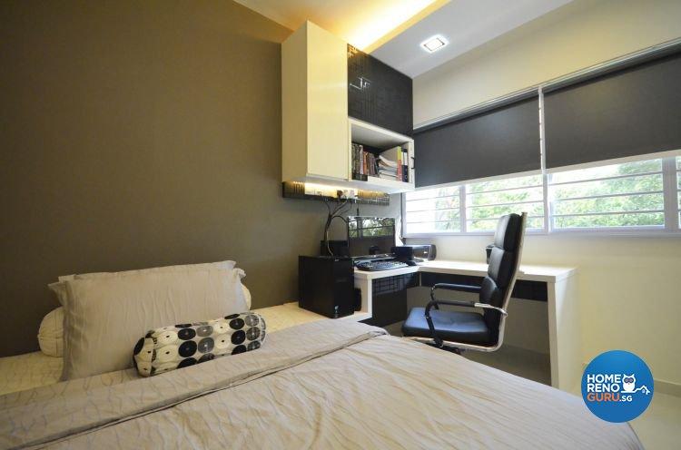 Minimalist, Modern Design - Bedroom - HDB 4 Room - Design by Boxplan Design Connection Pte Ltd