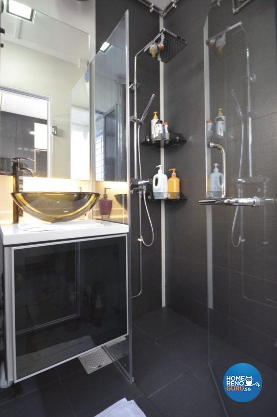 Minimalist, Modern Design - Bathroom - HDB 4 Room - Design by Boxplan Design Connection Pte Ltd