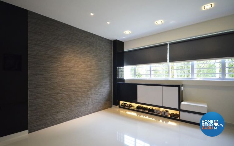 Minimalist, Modern Design - Entertainment Room - HDB 4 Room - Design by Boxplan Design Connection Pte Ltd