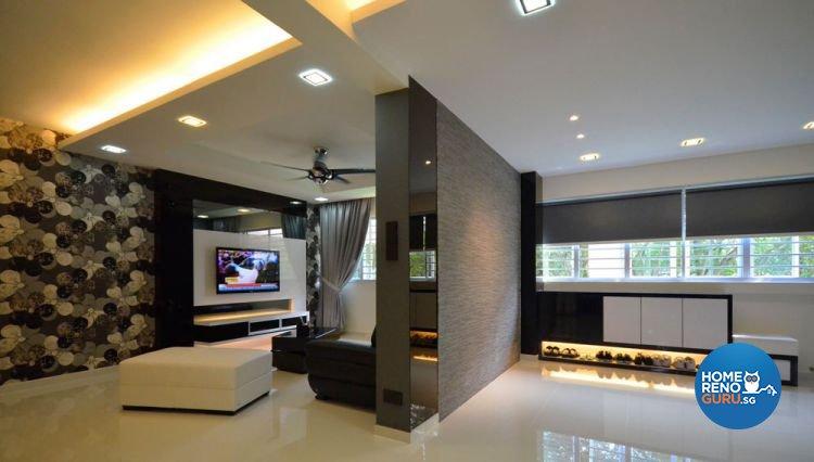Minimalist, Modern Design - Living Room - HDB 4 Room - Design by Boxplan Design Connection Pte Ltd
