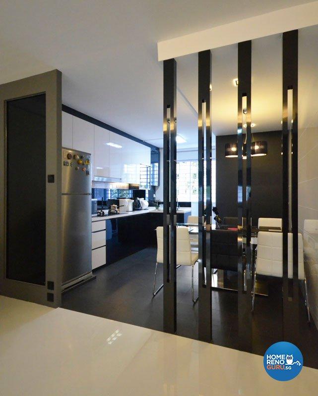 Minimalist, Modern Design - Dining Room - HDB 4 Room - Design by Boxplan Design Connection Pte Ltd