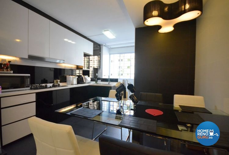 Minimalist, Modern Design - Kitchen - HDB 4 Room - Design by Boxplan Design Connection Pte Ltd