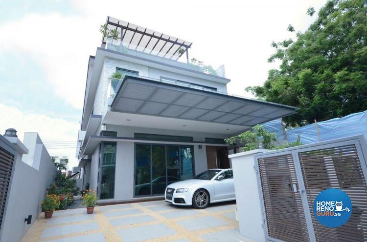 Contemporary Design - Balcony - Landed House - Design by Boxplan Design Connection Pte Ltd