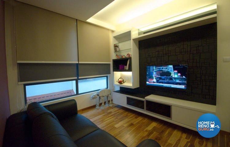 Contemporary Design - Living Room - Landed House - Design by Boxplan Design Connection Pte Ltd