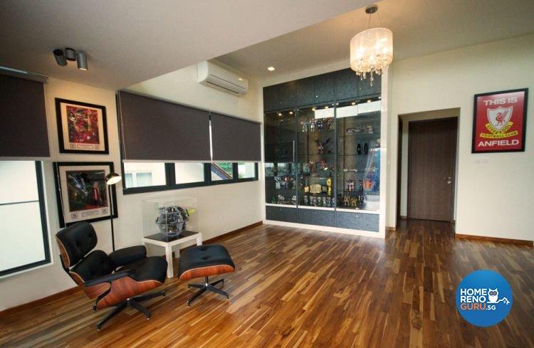 Contemporary Design - Entertainment Room - Landed House - Design by Boxplan Design Connection Pte Ltd