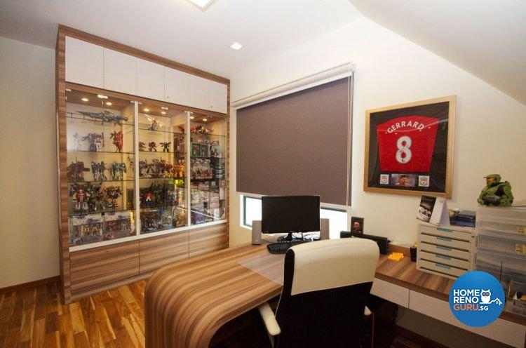 Contemporary Design - Study Room - Landed House - Design by Boxplan Design Connection Pte Ltd
