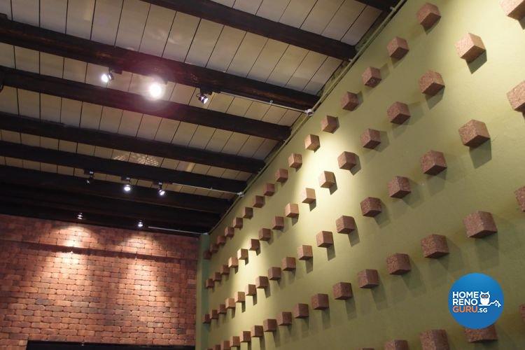 Contemporary, Industrial Design - Balcony - Office - Design by Brick & Tungsten Pte Ltd
