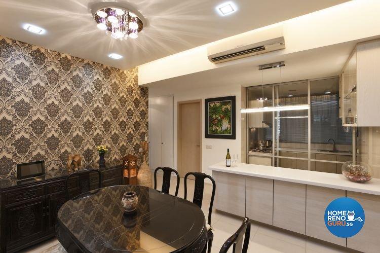 Contemporary, Modern Design - Dining Room - Condominium - Design by Brilliant D Concept Pte Ltd